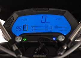 2015 Zero Police Electric Motorcycle: Dashboard