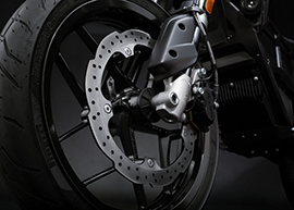 2018 Zero FXS Electric Motorcycle: Front Brake