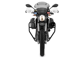 2017 Zero DSRP Electric Motorcycle: Front, White Background