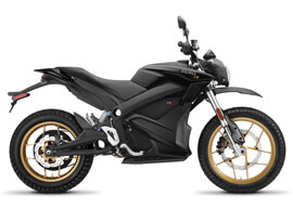 2018 Zero DSR Electric Motorcycle: Profile Right, White Background