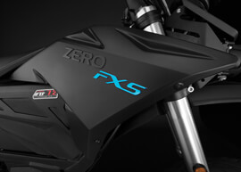 2018 Zero FXS Electric Motorcycle: Tank
