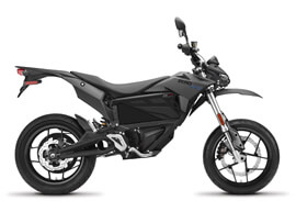 2018 Zero FXS Electric Motorcycle: Profile Right, White Background