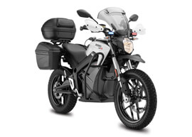 2018 Zero DSRP Electric Motorcycle: Right angle, White Background