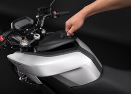2018 Zero S Electric Motorcycle: Storage Tank, Open