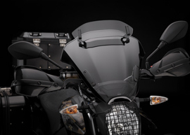 2019 Zero Motorcycles DSR Black Forest Edition: Windshield