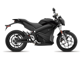 2019 Zero S ZF 14.4 Electric Motorcycle: Profile Right, White Background