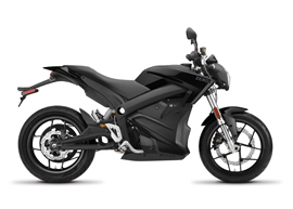 2019 Zero S ZF 7.2 Electric Motorcycle: Profile Right, White Background