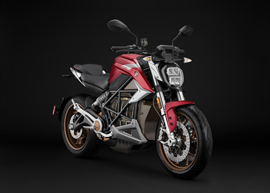 2020 Zero SR/F ZF14.4 Red Electric Motorcycle: Right Angle, Rear