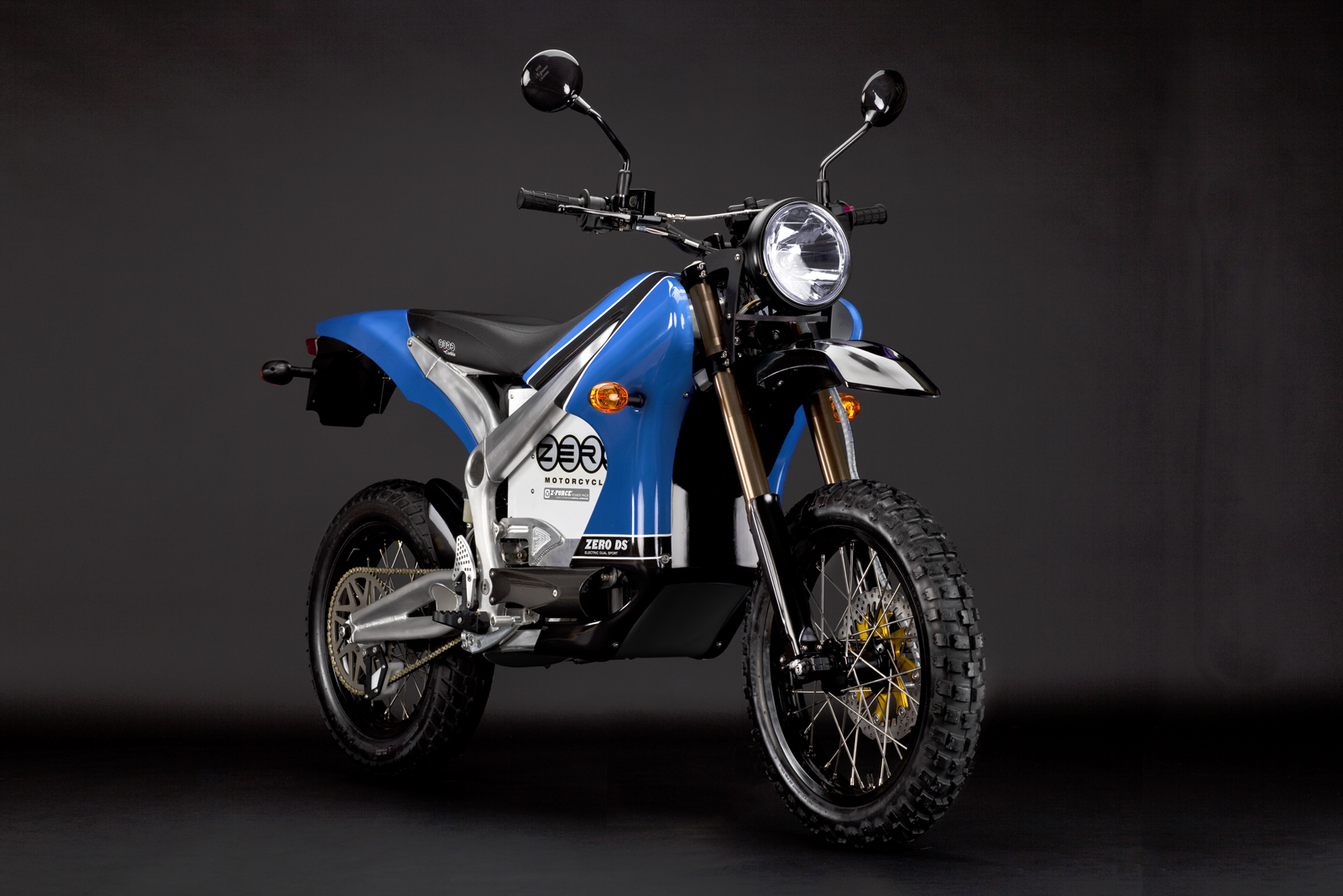 2010 Zero DS Electric Motorcycle: Blue Angle