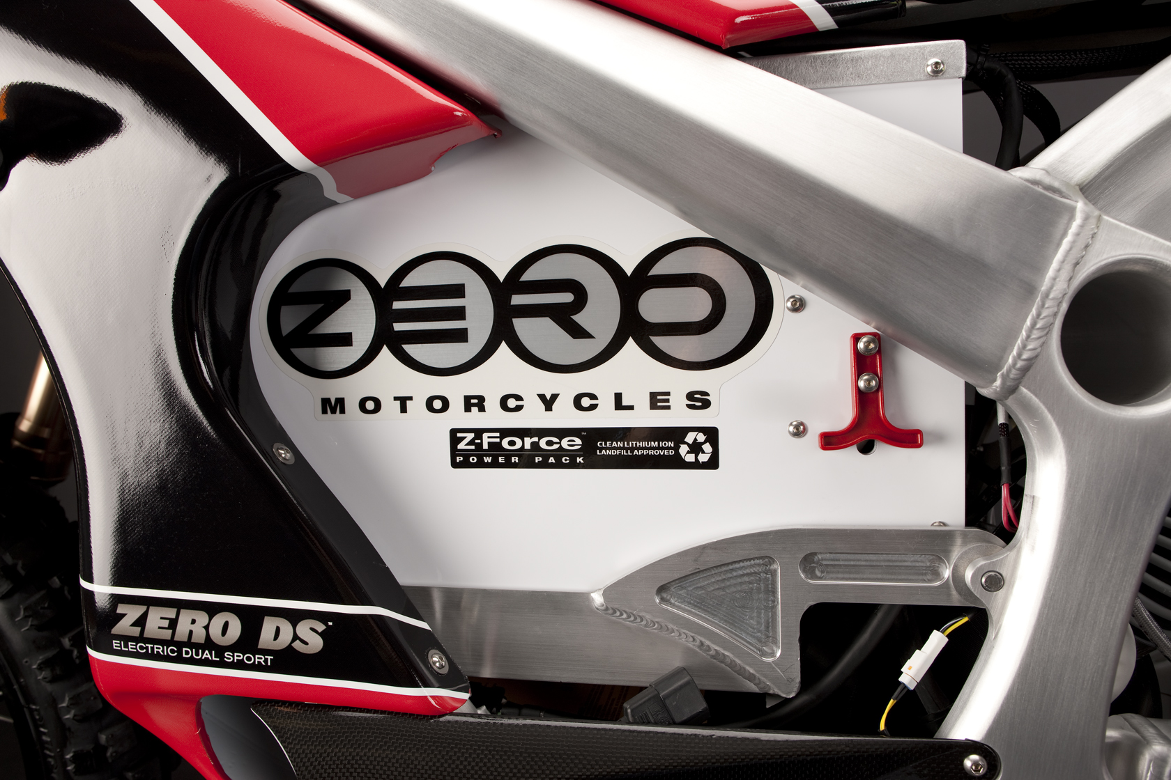 '.2010 Zero DS Electric Motorcycle: Battery.'
