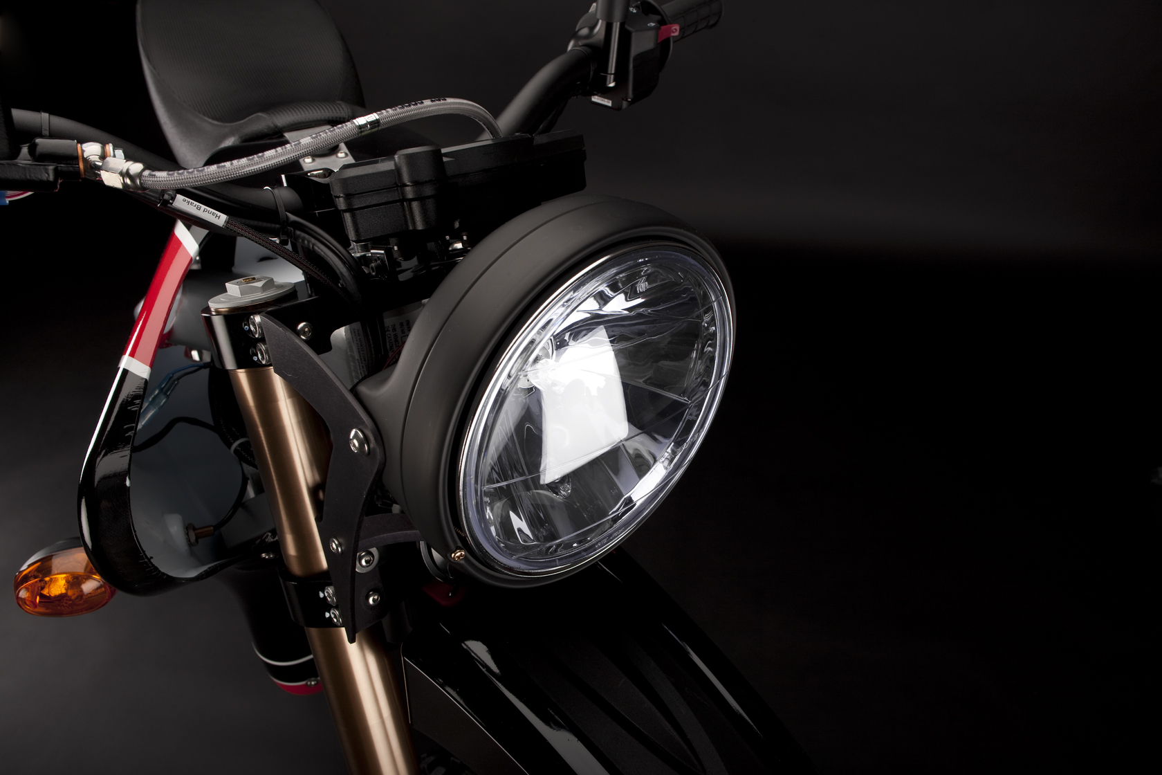'.2010 Zero DS Electric Motorcycle: Headlight.'