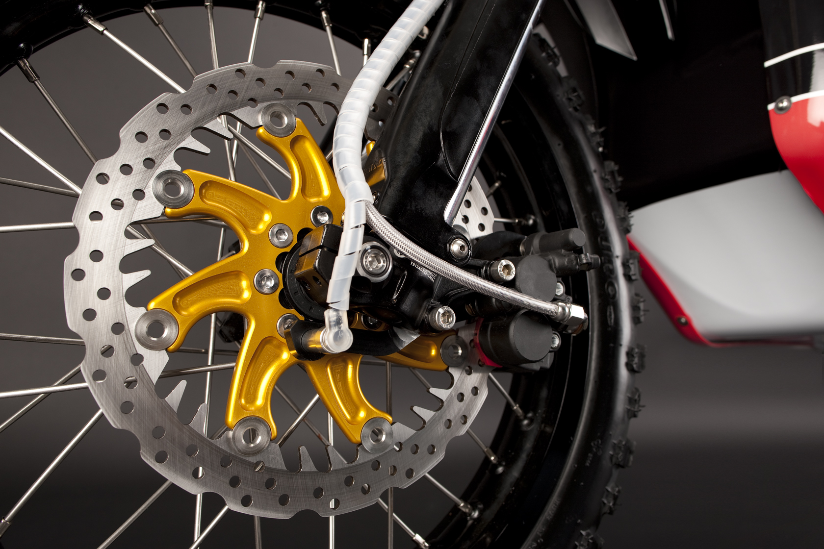 '.2010 Zero DS Electric Motorcycle: Front Brake.'