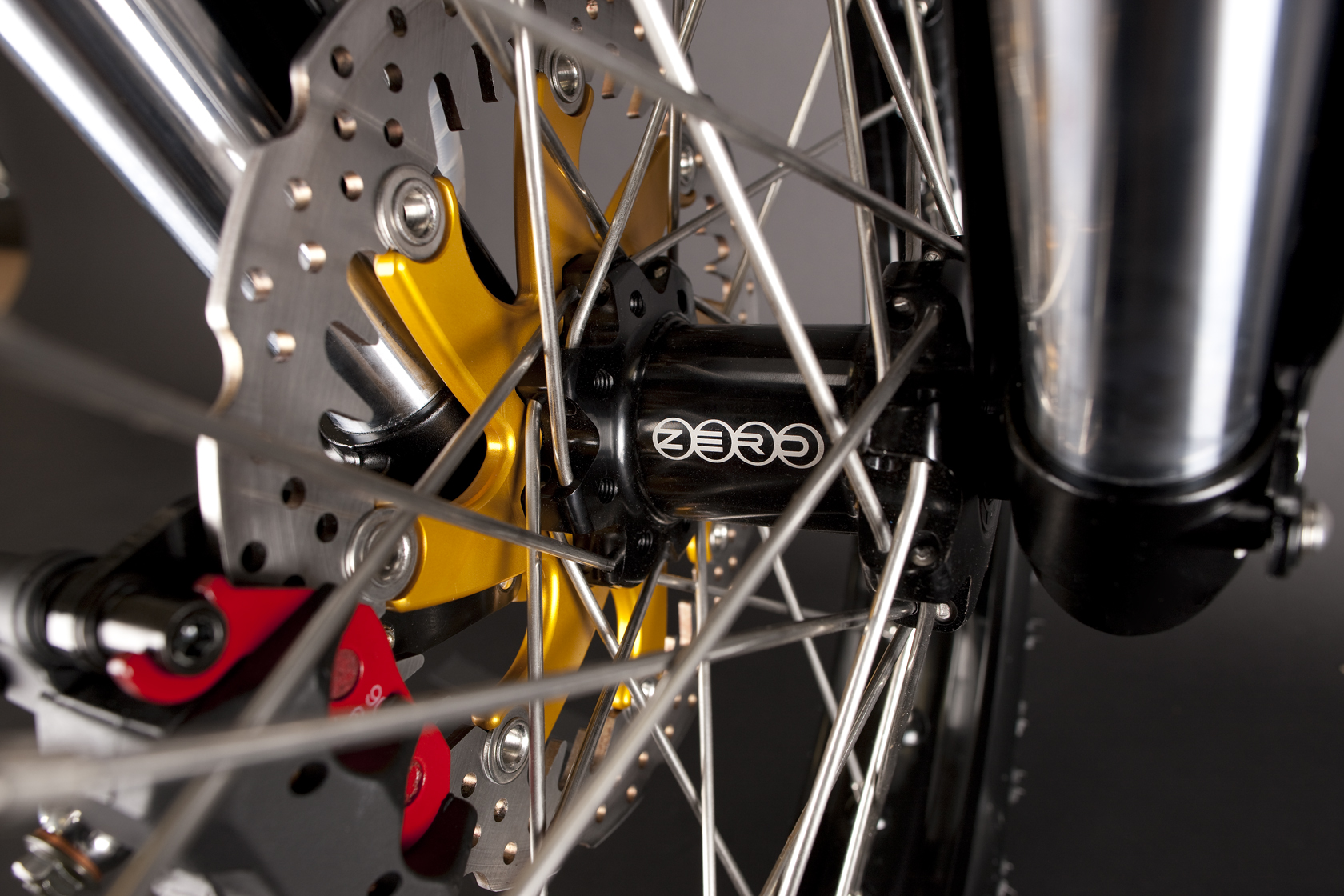 '.2010 Zero DS Electric Motorcycle: Front Tire.'