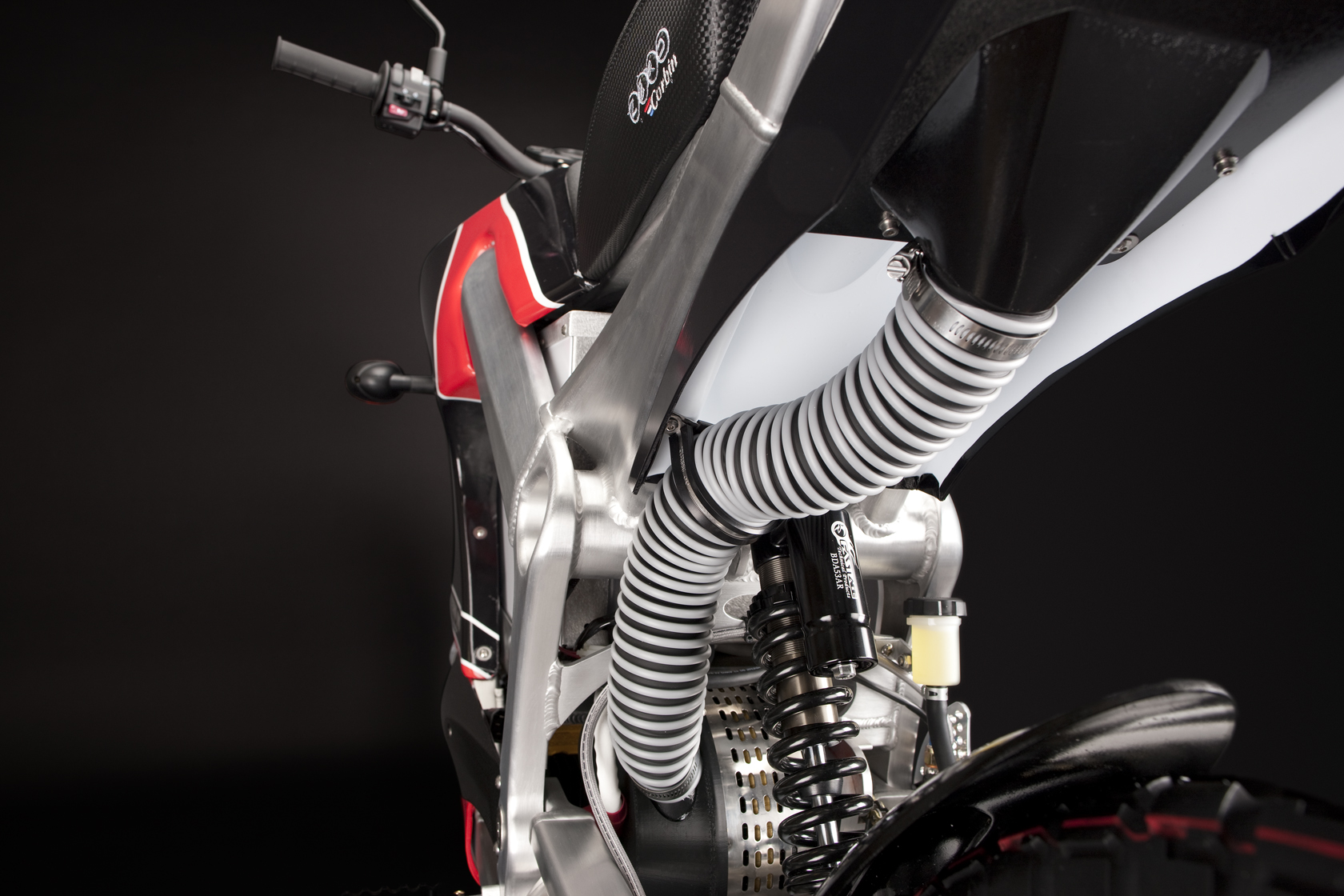 '.2010 Zero DS Electric Motorcycle: Air Induction.'