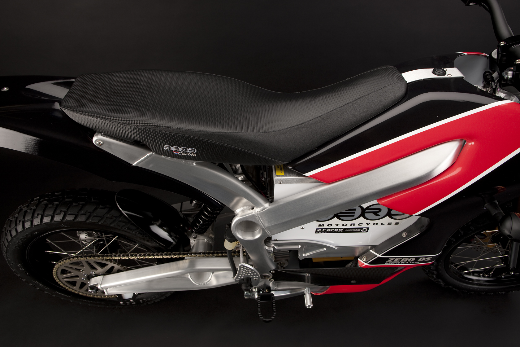 '.2010 Zero DS Electric Motorcycle: Seat.'