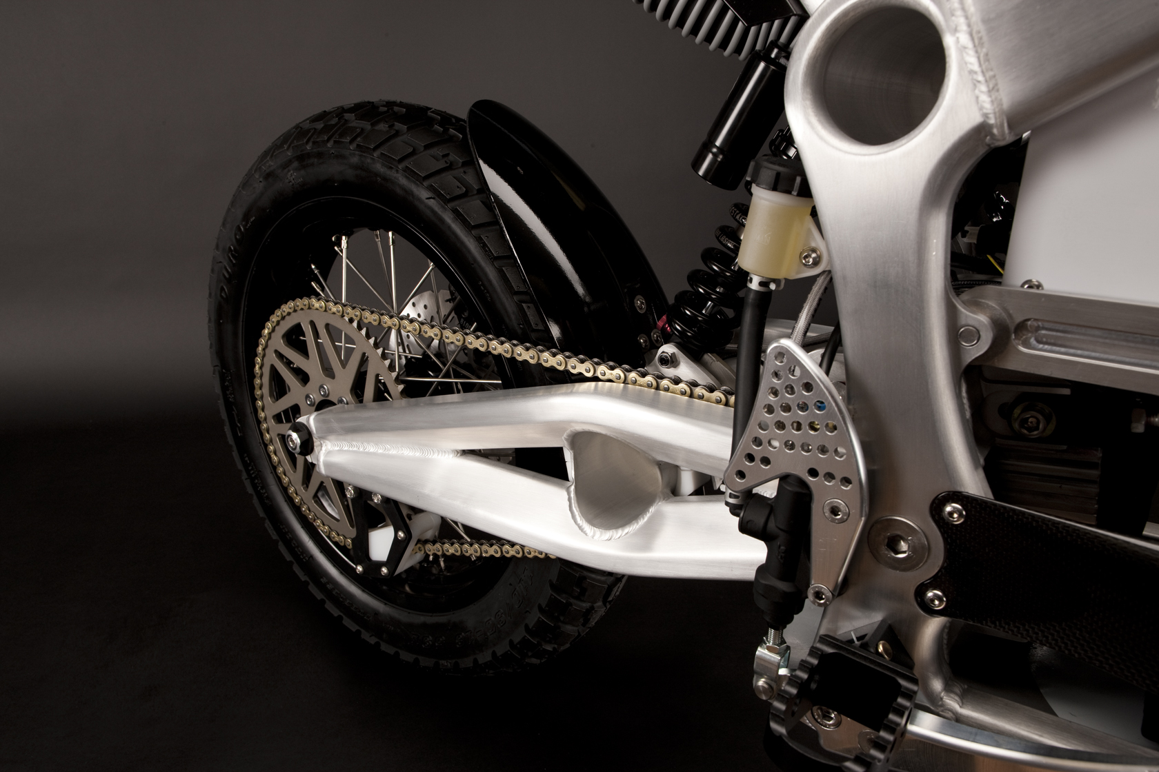 '.2010 Zero DS Electric Motorcycle: Swingarm.'
