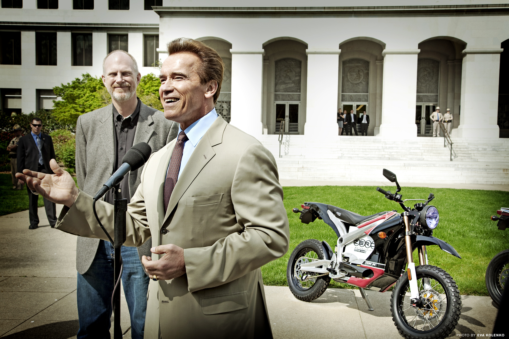 Governor Arnold Schwarzenegger and Zero Motorcycles
