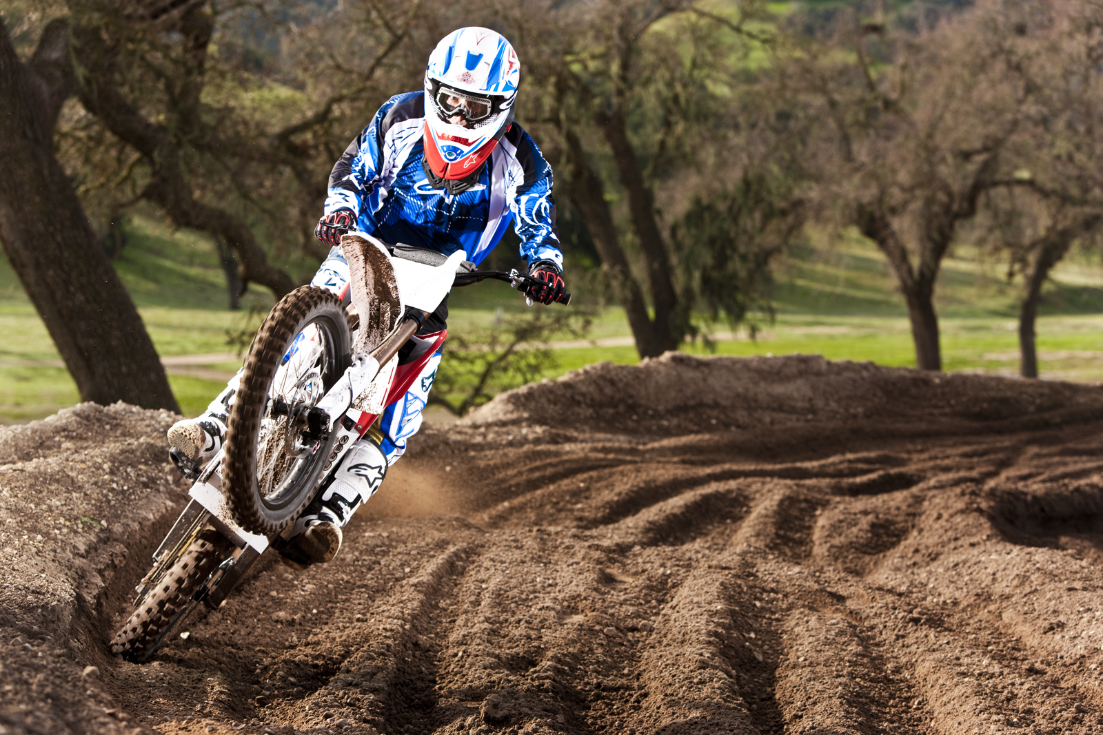 '.2010 Zero MX Electric Motorcycle: Zaca Station - Wheelie out of Corner.'