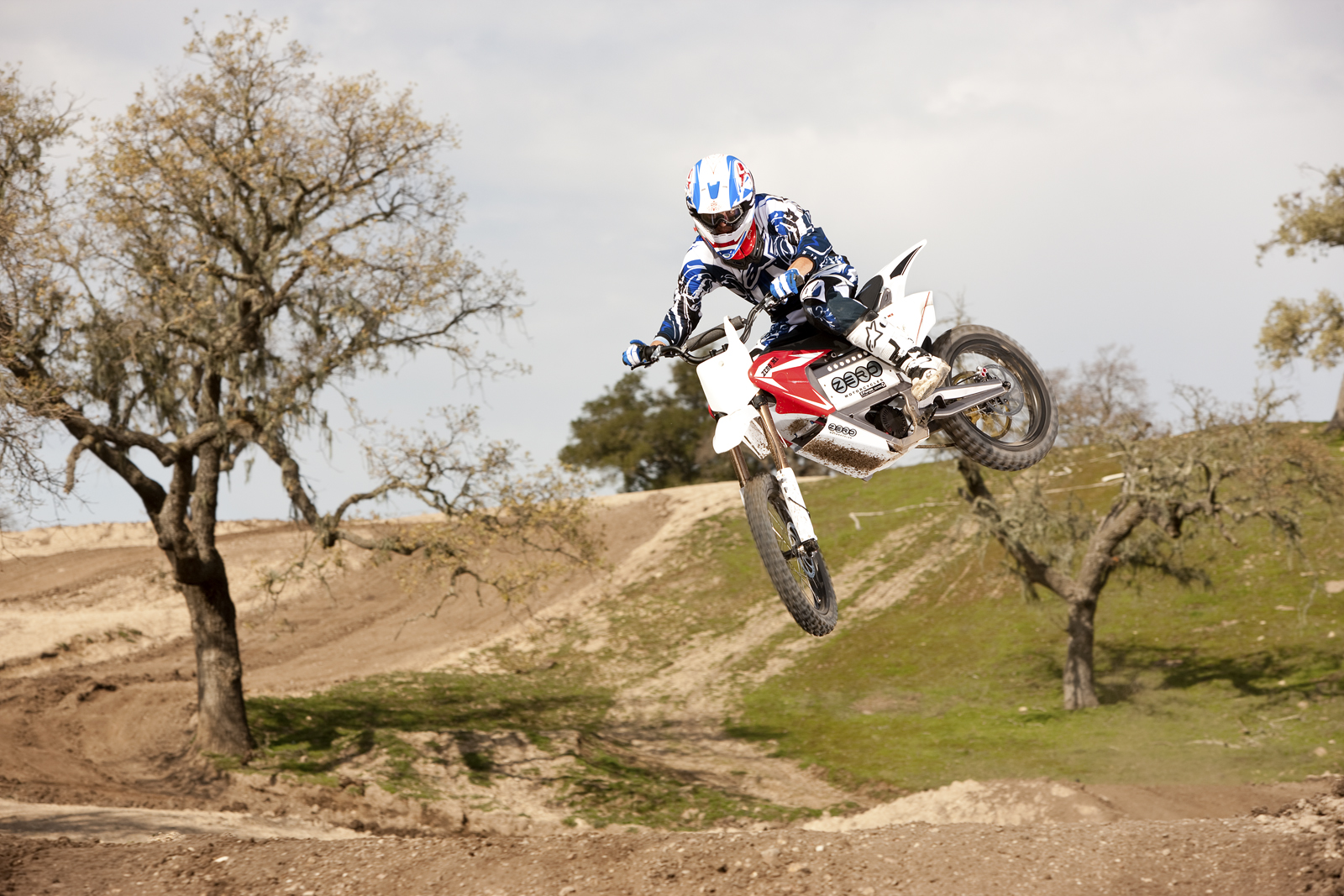 2010 Zero MX Electric Motorcycle: Zaca Station - Little Red Bike Jump