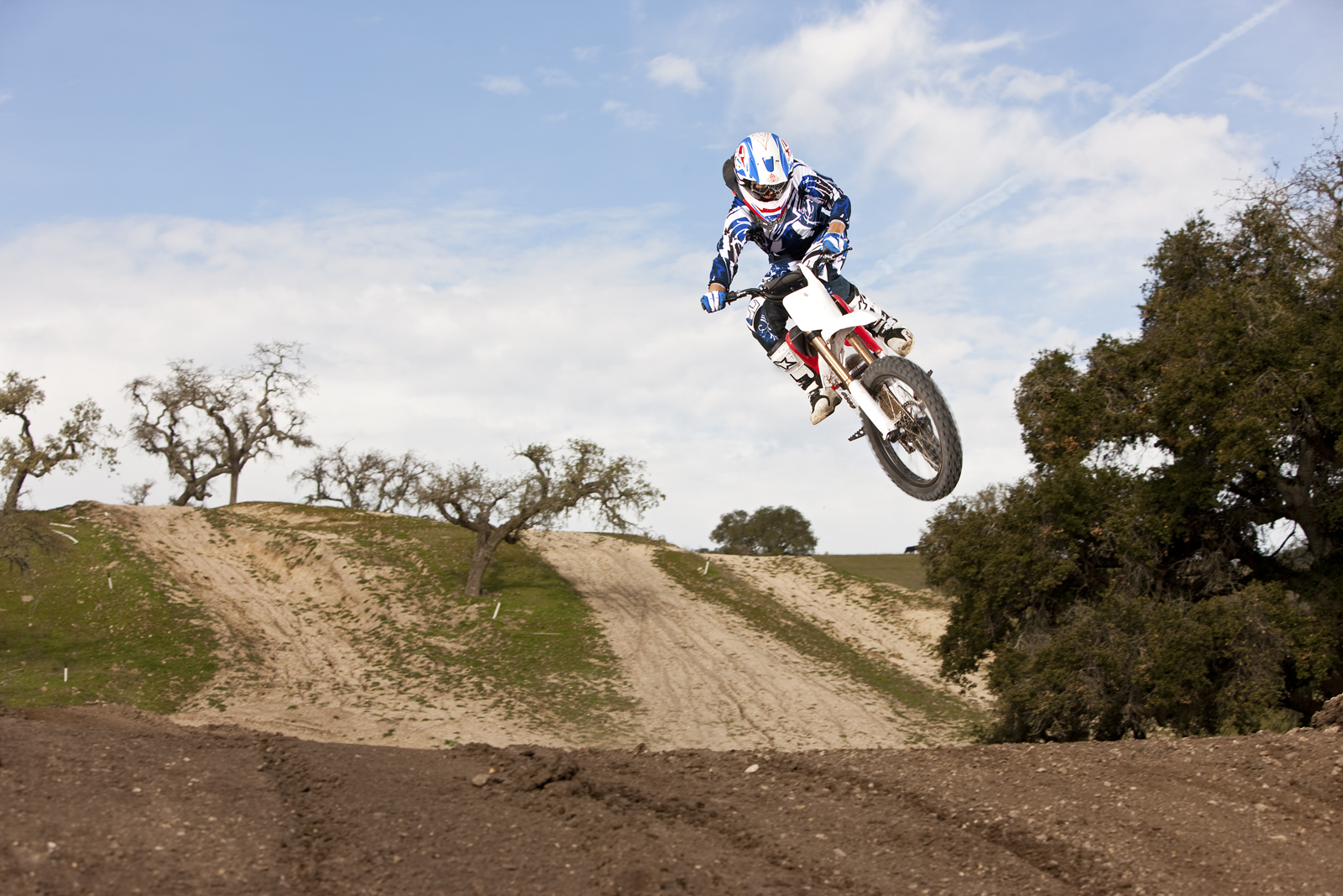 '.2010 Zero MX Electric Motorcycle: Zaca Station - Big Red Bike Jump.'