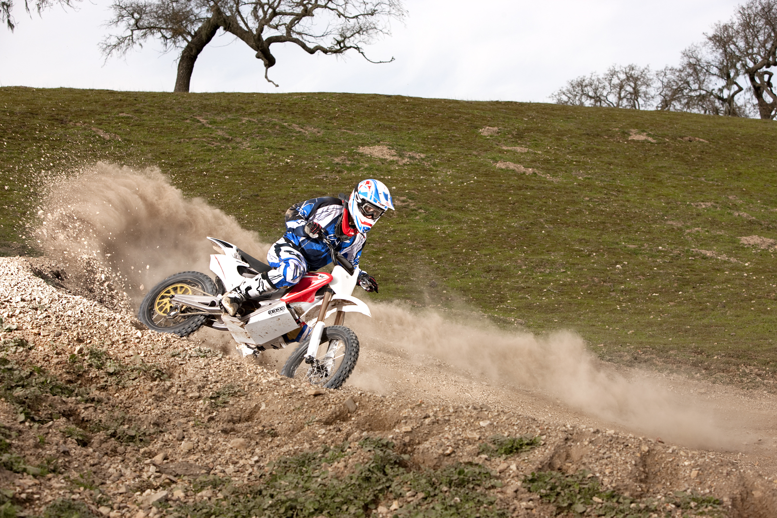 '.2010 Zero MX Electric Motorcycle: Zaca Station - Rock Blaster.'