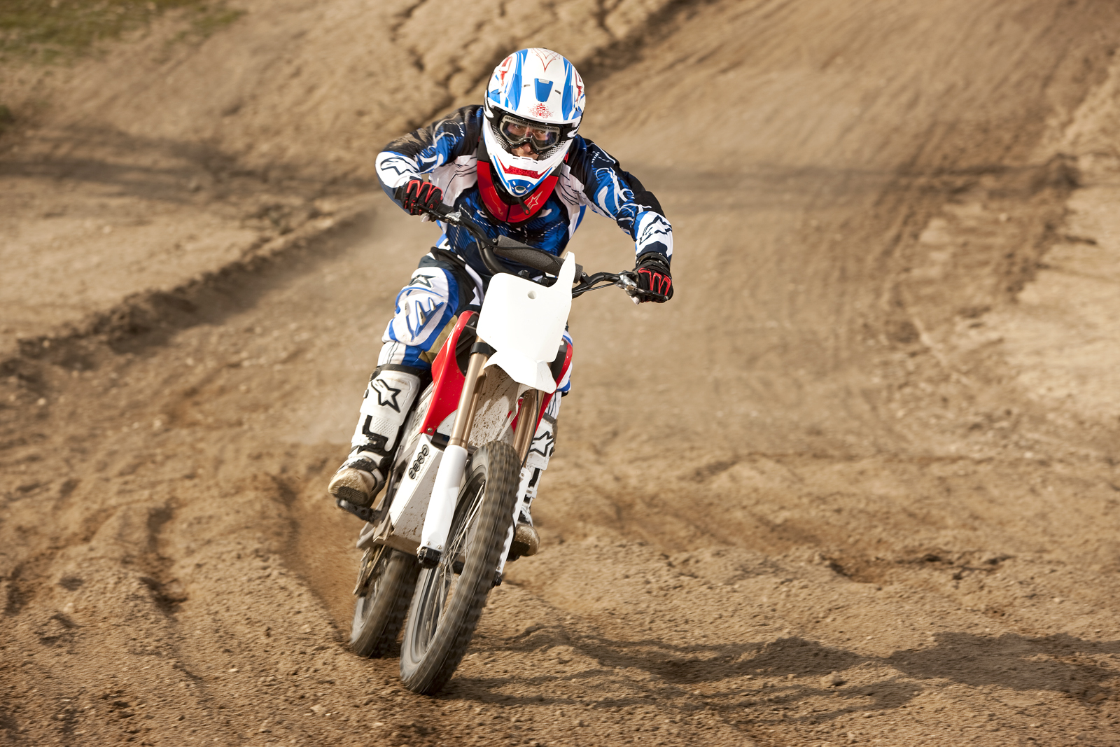 '.2010 Zero MX Electric Motorcycle: Zaca Station - Charging Downhill.'