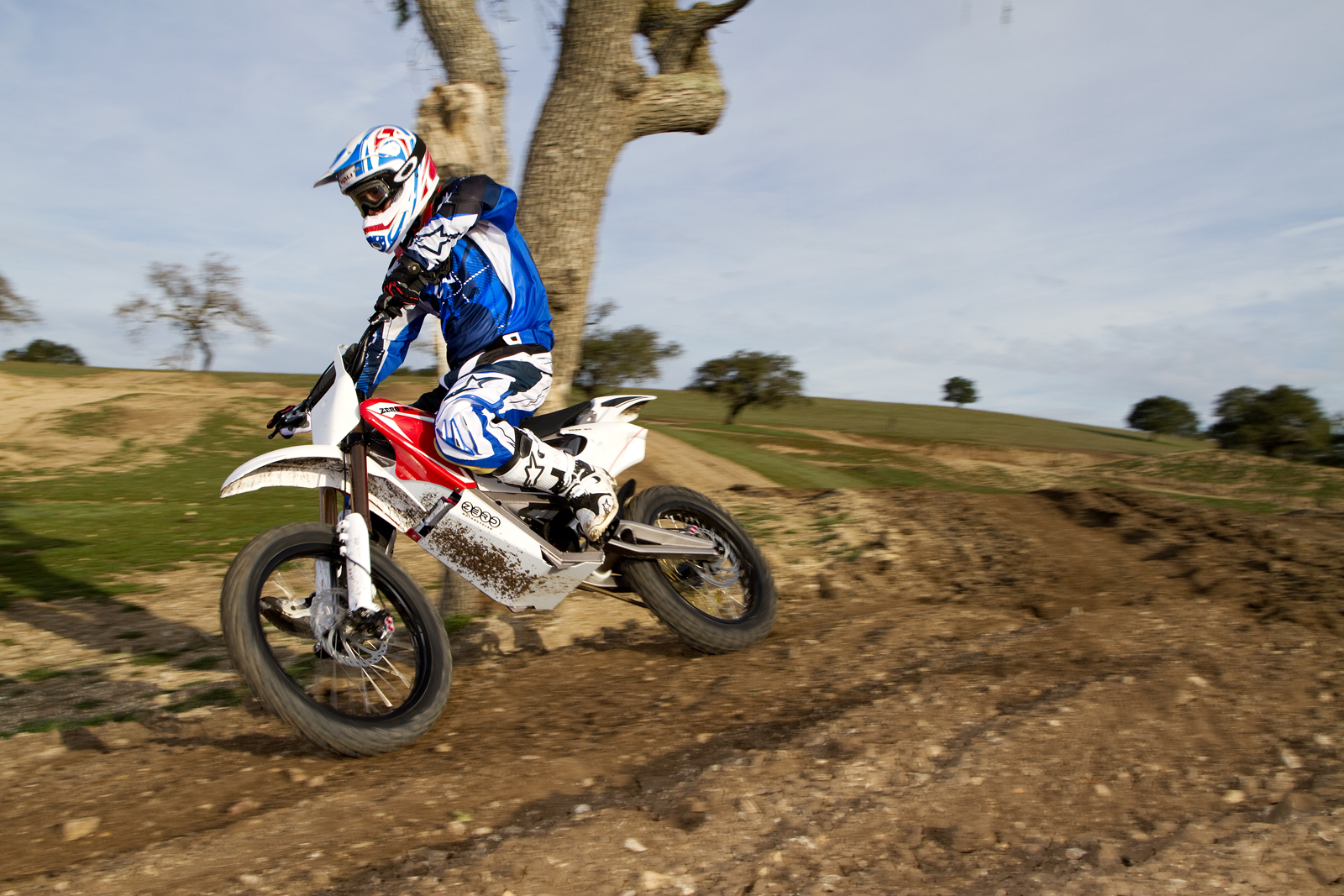 '.2010 Zero MX Electric Motorcycle: Zaca Station - Cruising.'