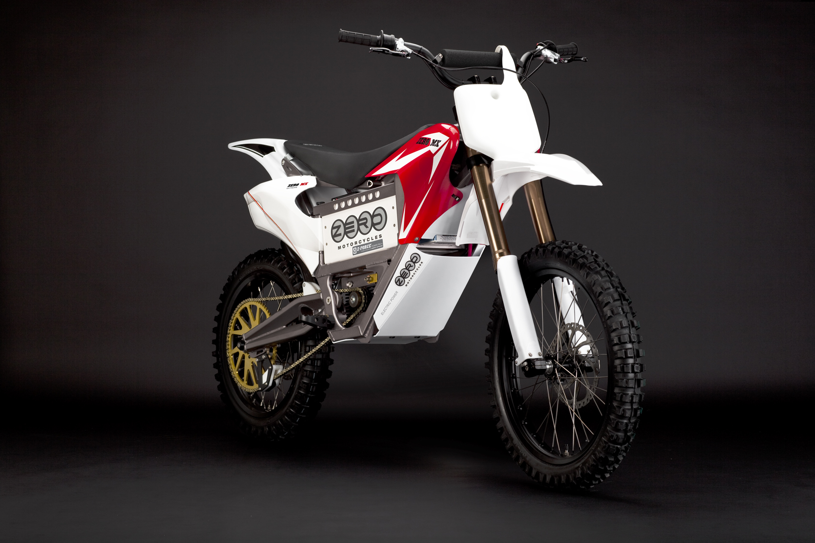 2010 Zero MX Electric Motorcycle: Red Angle Right