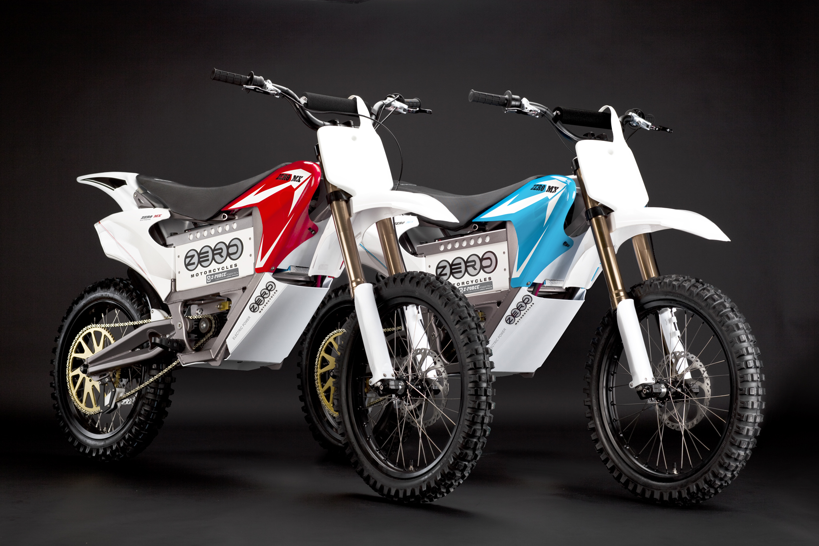 '.2010 Zero MX Electric Motorcycle: Pair.'