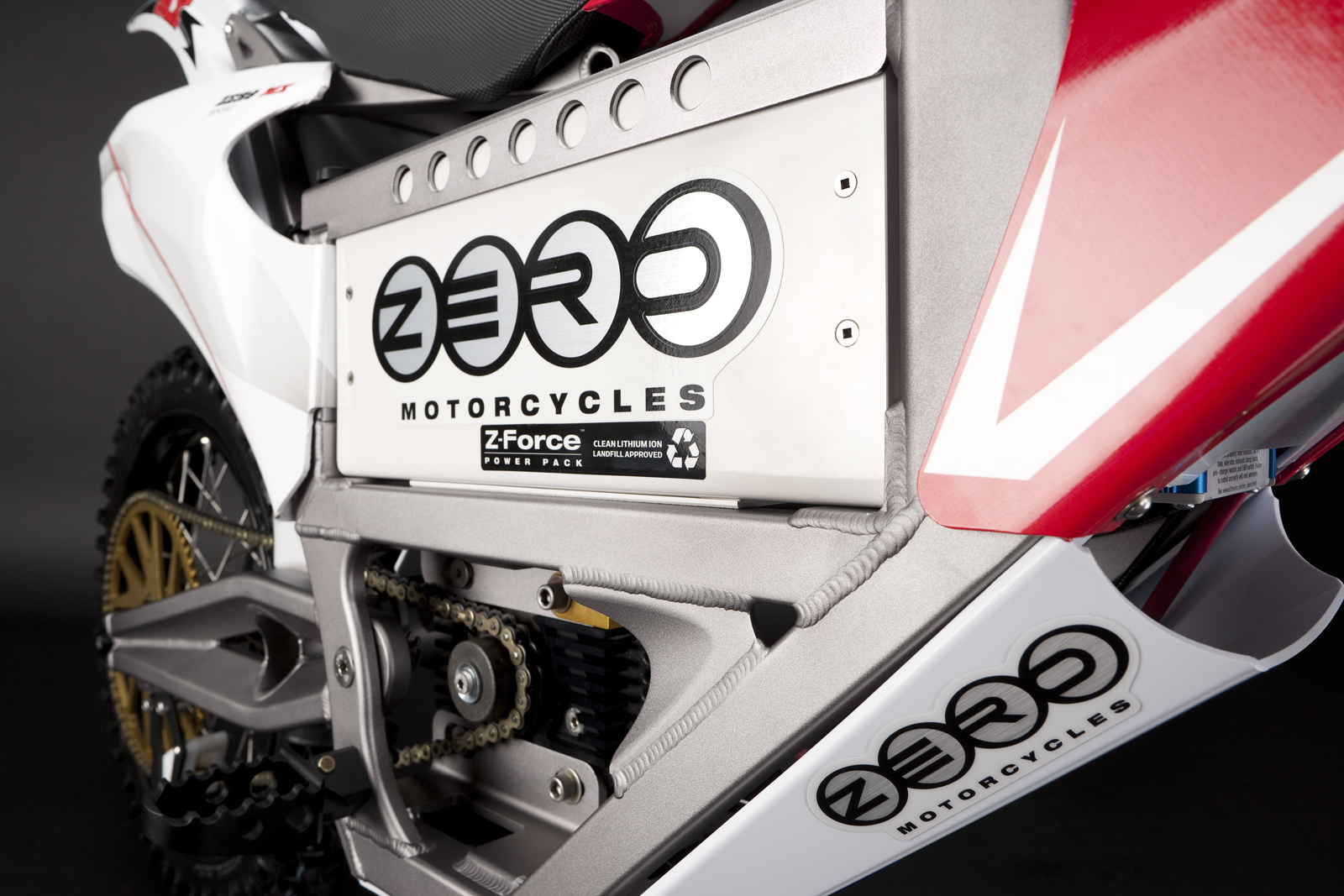 '.2010 Zero MX Electric Motorcycle: Battery.'