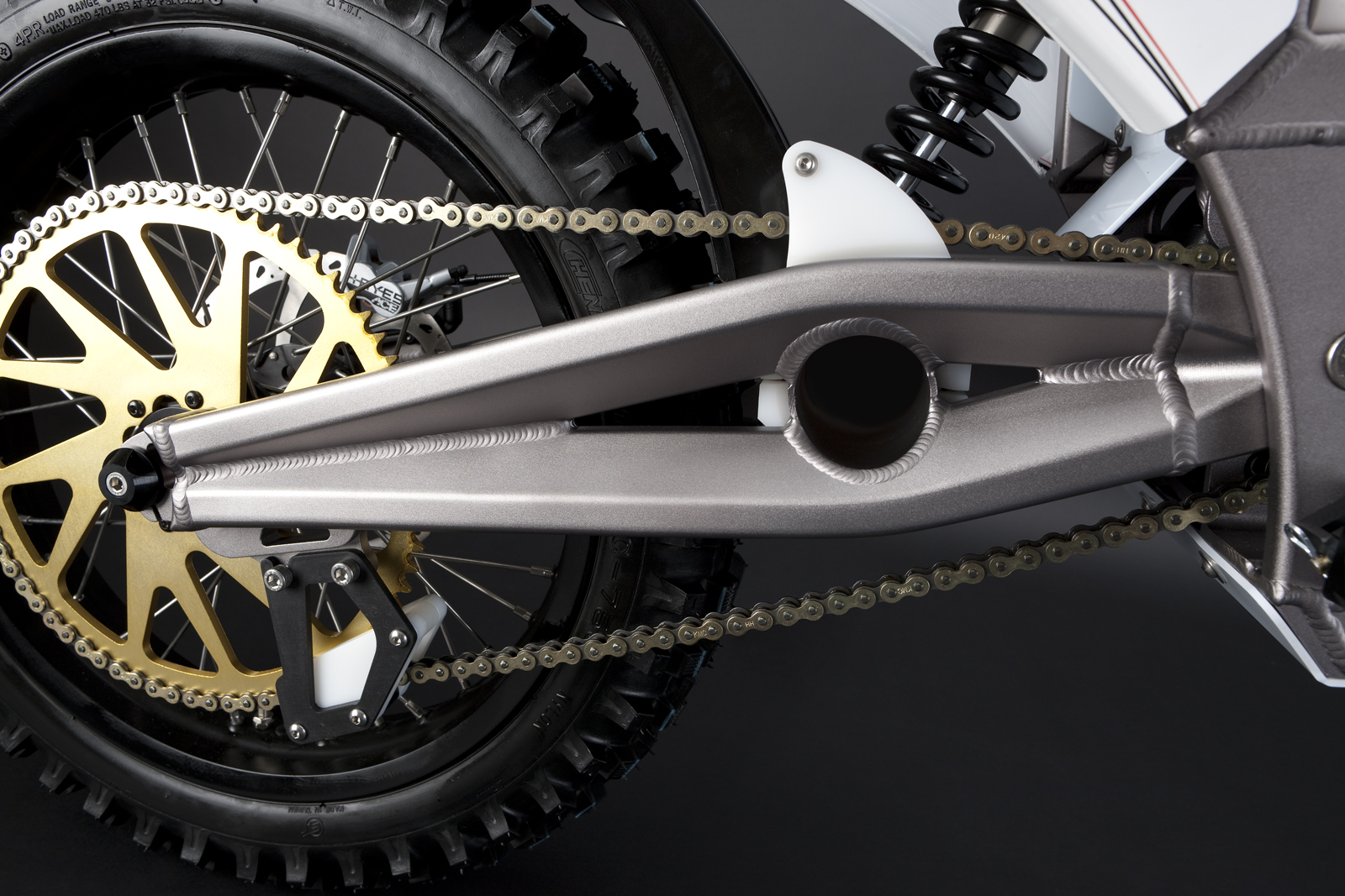 '.2010 Zero MX Electric Motorcycle: Swing Arm.'