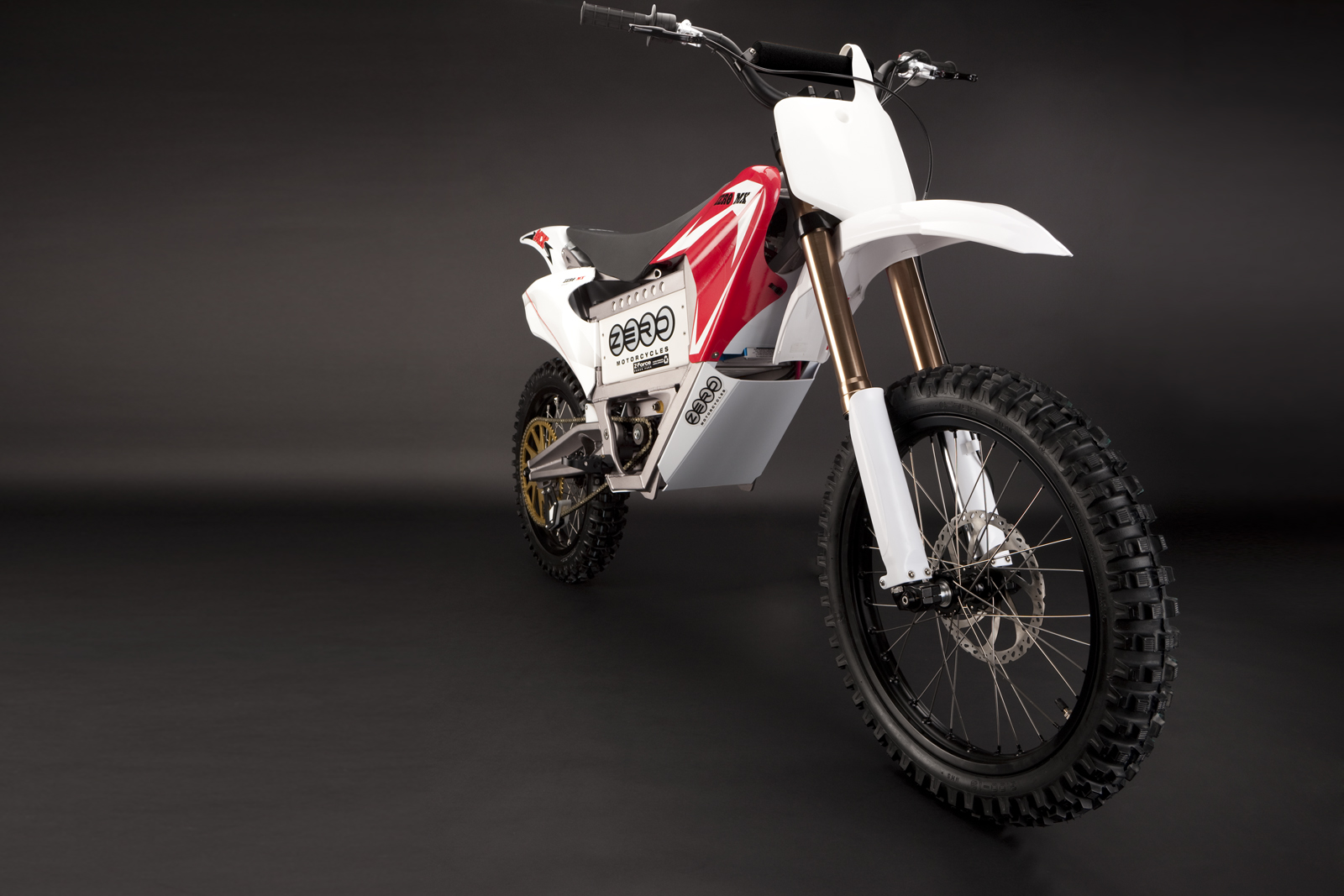 '.2010 Zero MX Electric Motorcycle: Front Fork.'