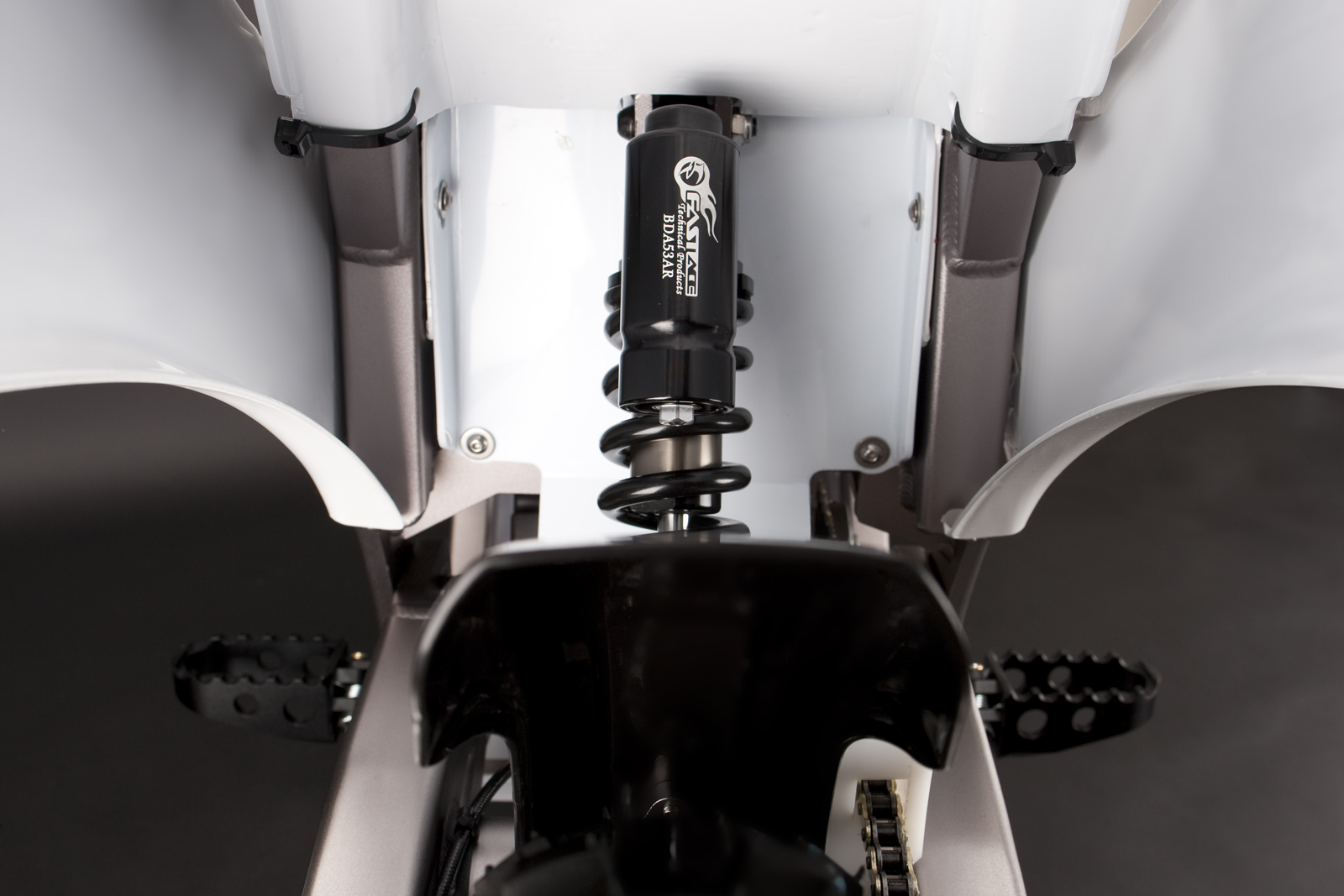 '.2010 Zero MX Electric Motorcycle: Rear Shock.'