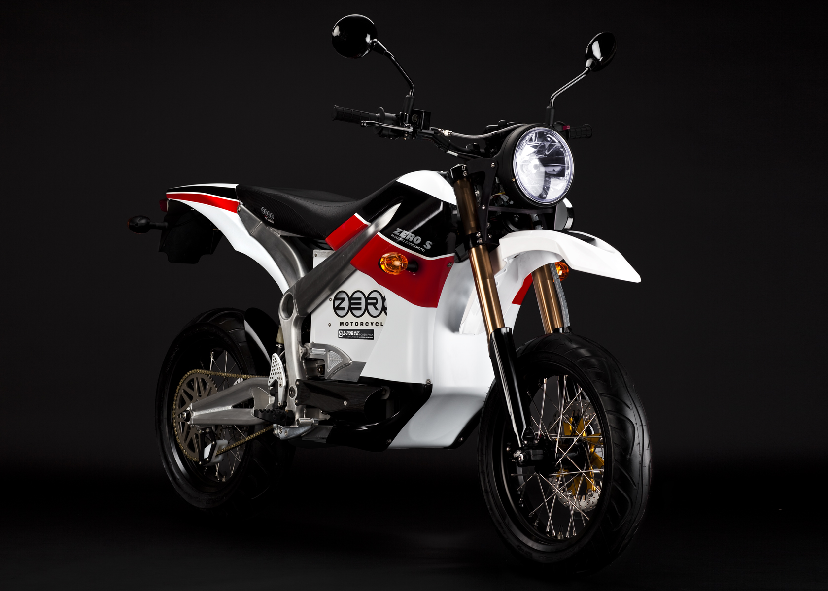 2010 Zero S Electric Motorcycle: Red Angle Right