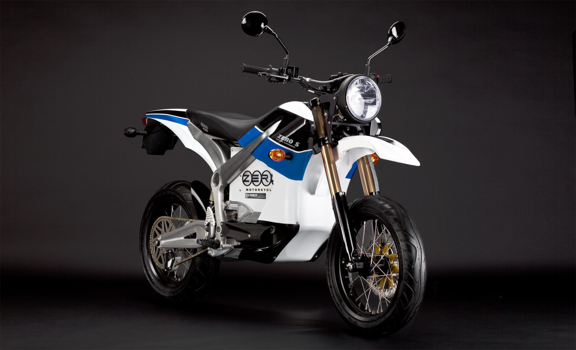 '.2010 Zero S Electric Motorcycle: Blue Angle.'