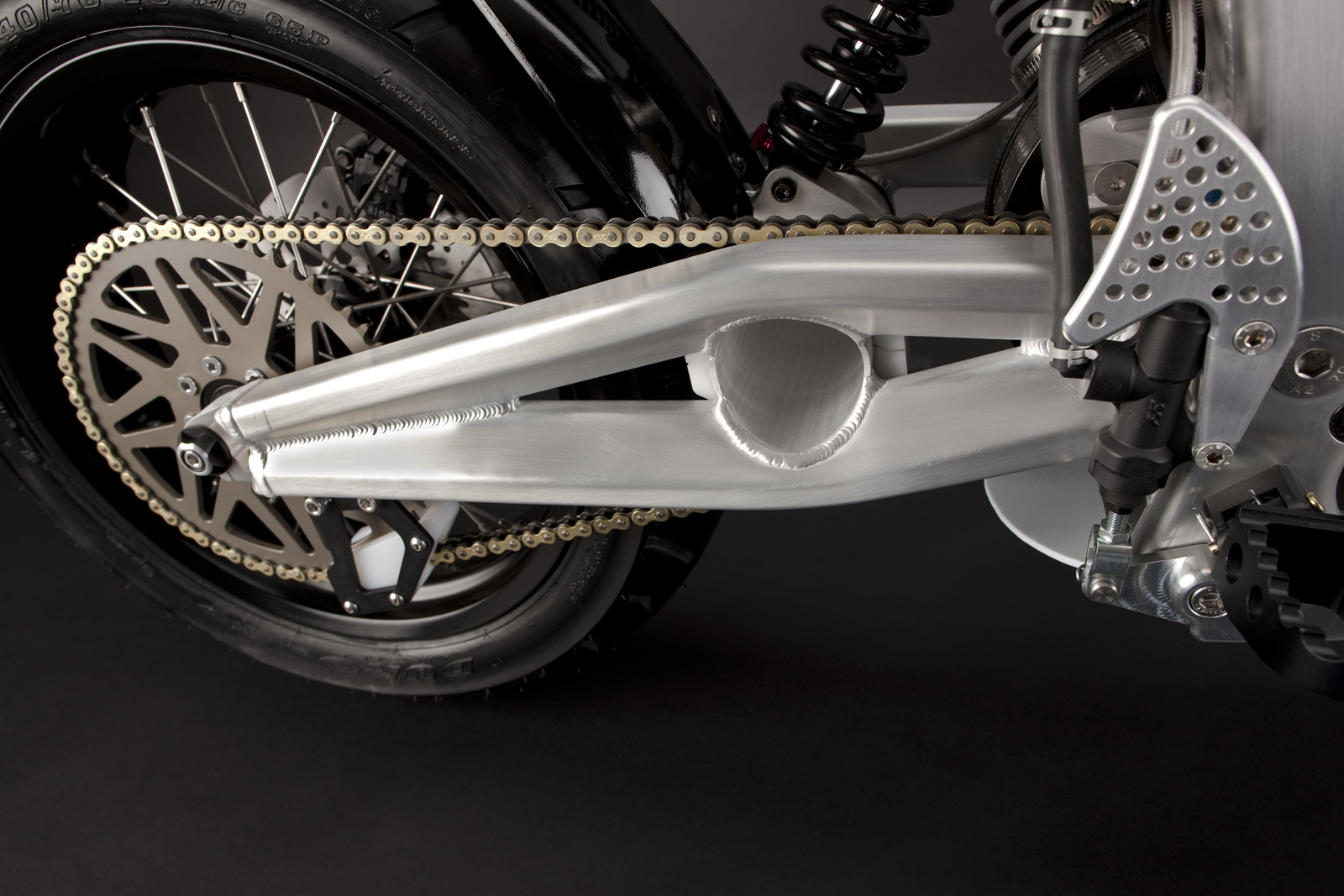 '.2010 Zero S Electric Motorcycle: Swing Arm.'