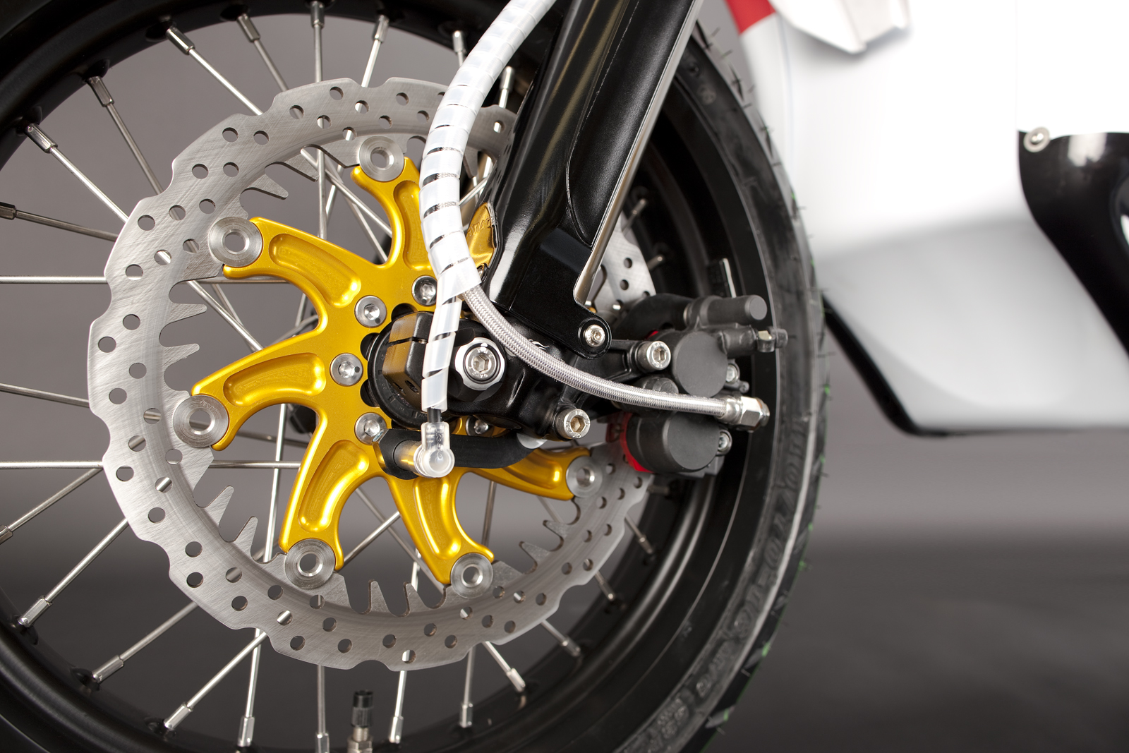 '.2010 Zero S Electric Motorcycle: Front Brake.'
