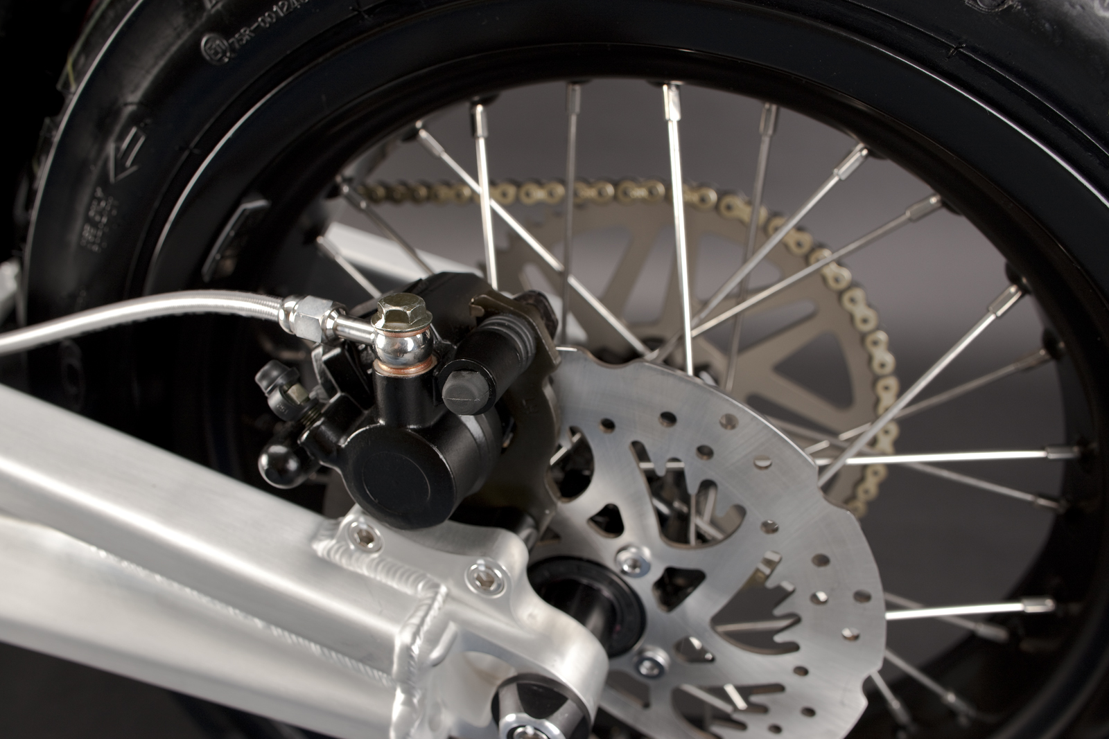 '.2010 Zero S Electric Motorcycle: Rear Brake.'