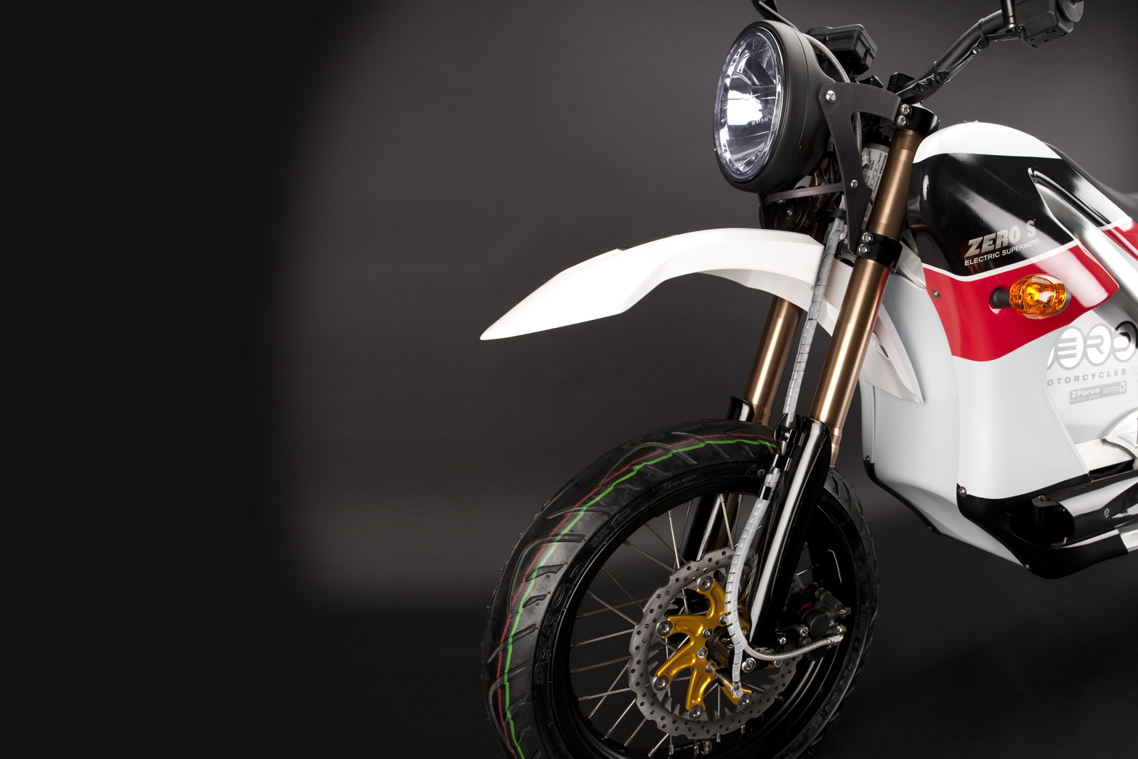 '.2010 Zero S Electric Motorcycle: Front Fork.'