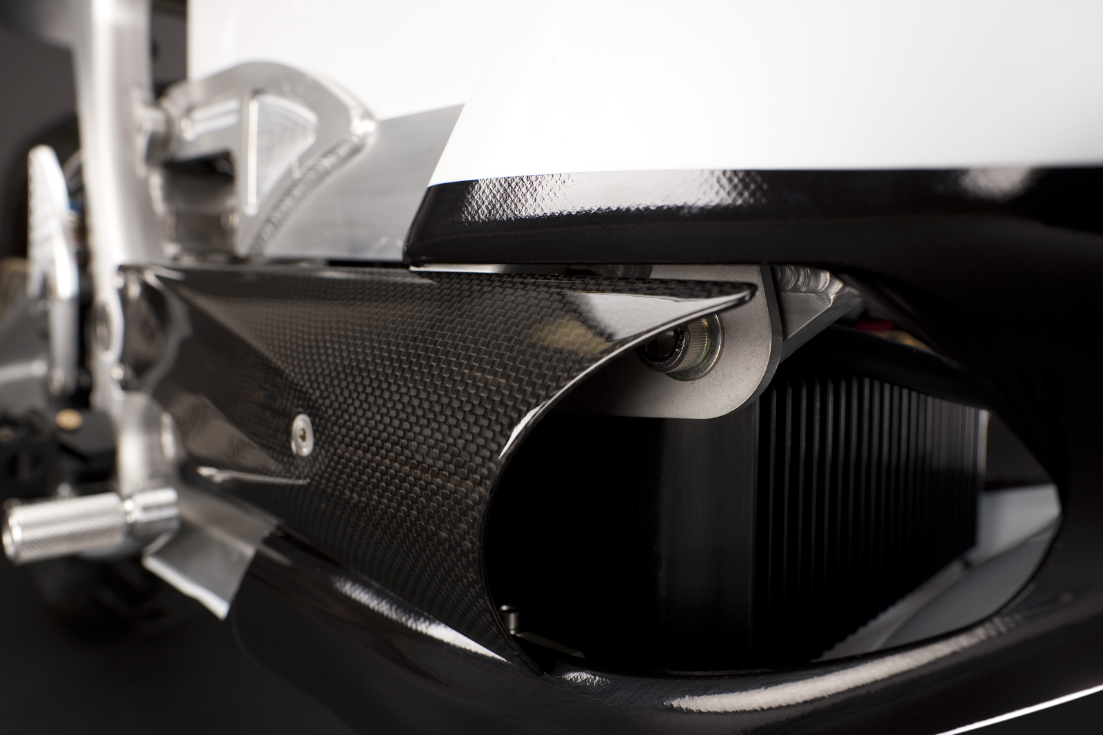 '.2010 Zero S Electric Motorcycle: Carbon Fiber Vents.'