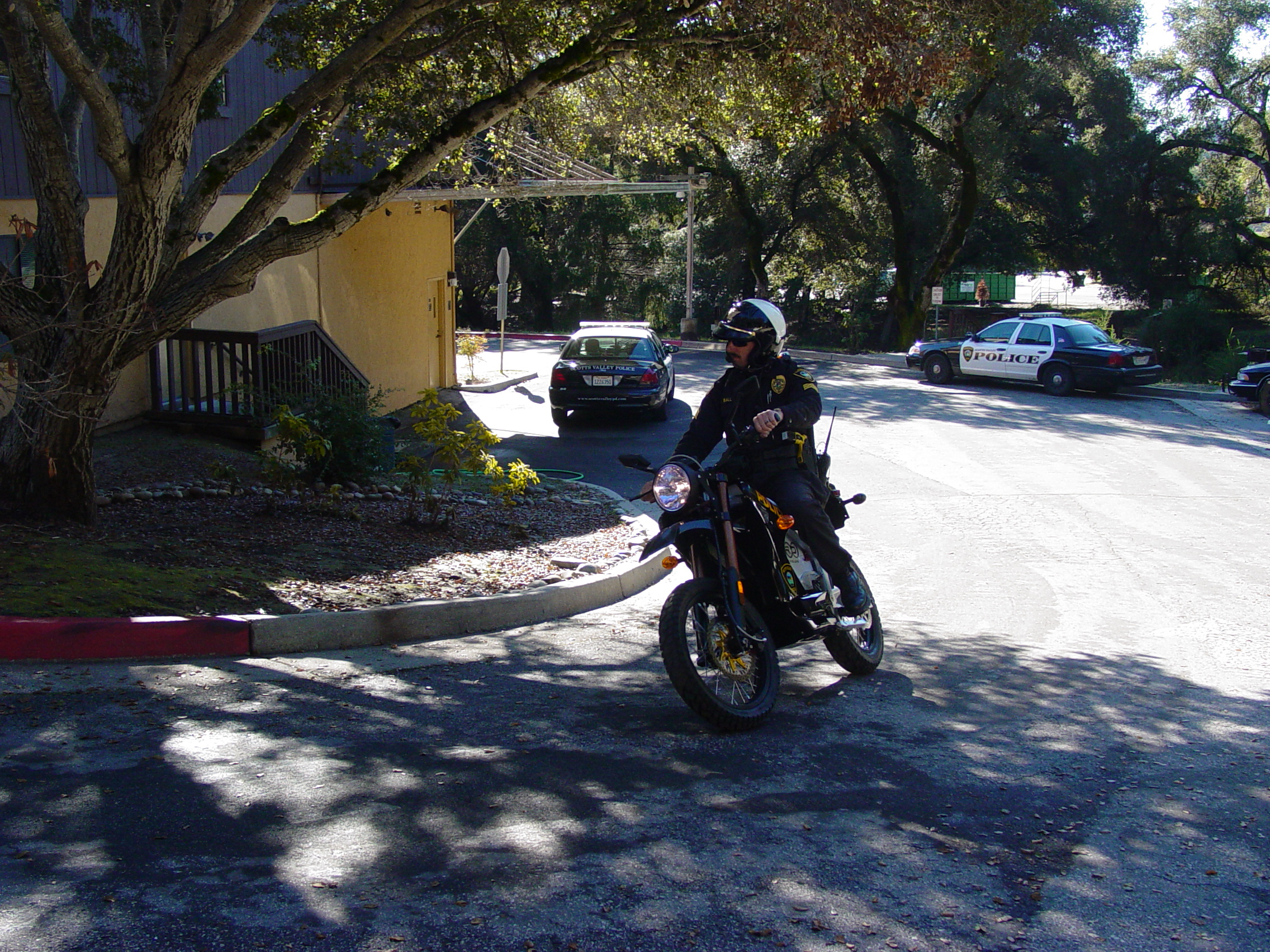 Scotts Valley Police Department with Zero DS Motorcycle