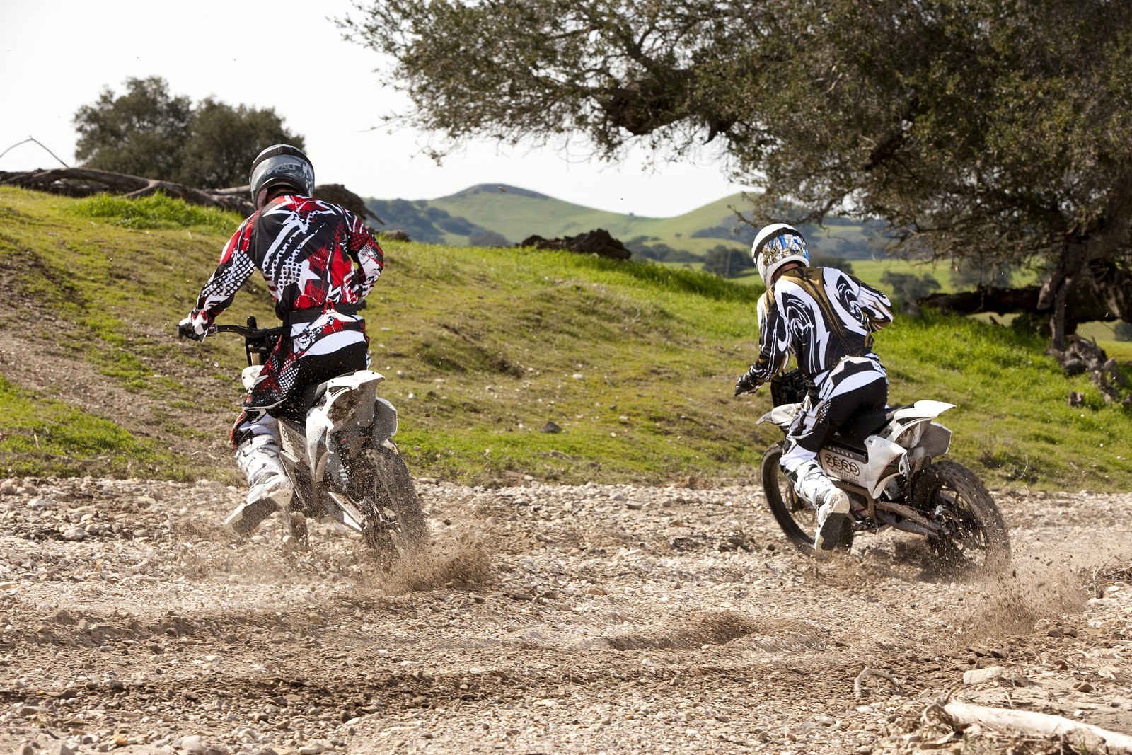 '.2010 Zero X Electric Motorcycle: Zaca Station - Playing in Rocks.'