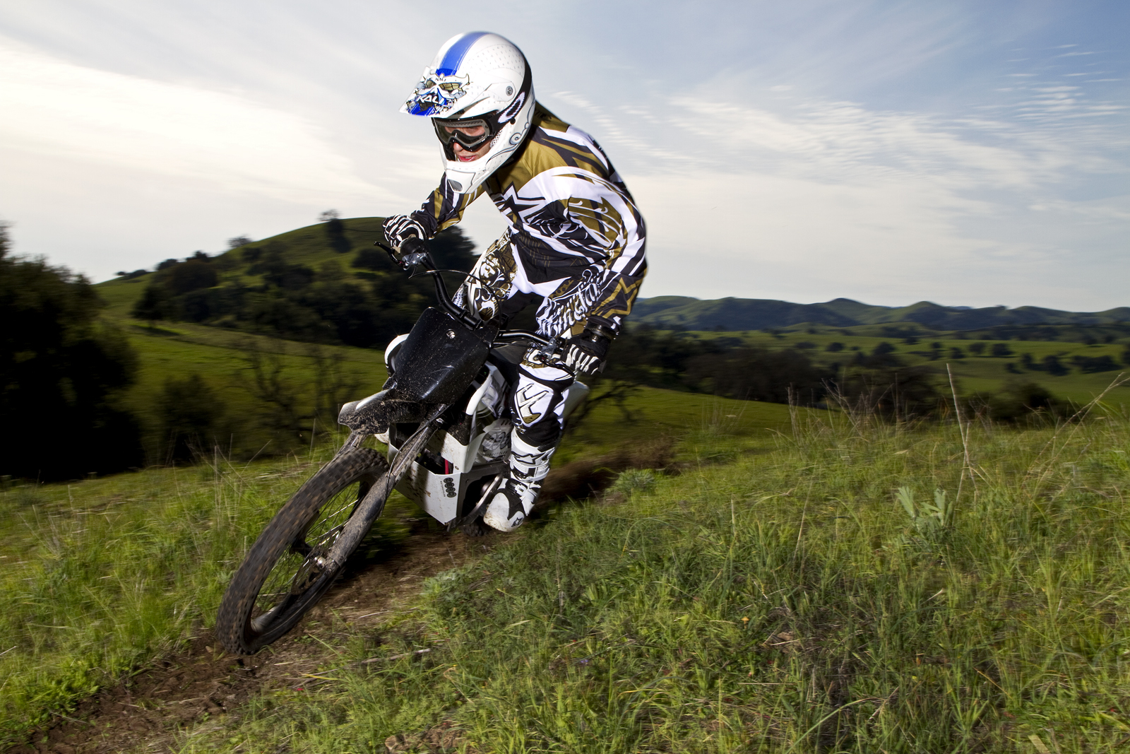 2010 Zero X Electric Motorcycle: Zaca Station - Single Track on Ridge