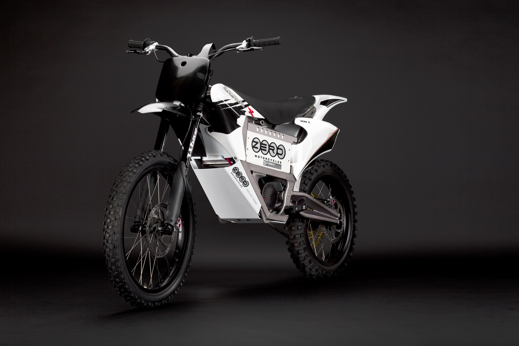 '.2010 Zero X Electric Motorcycle: Red Angle Left.'