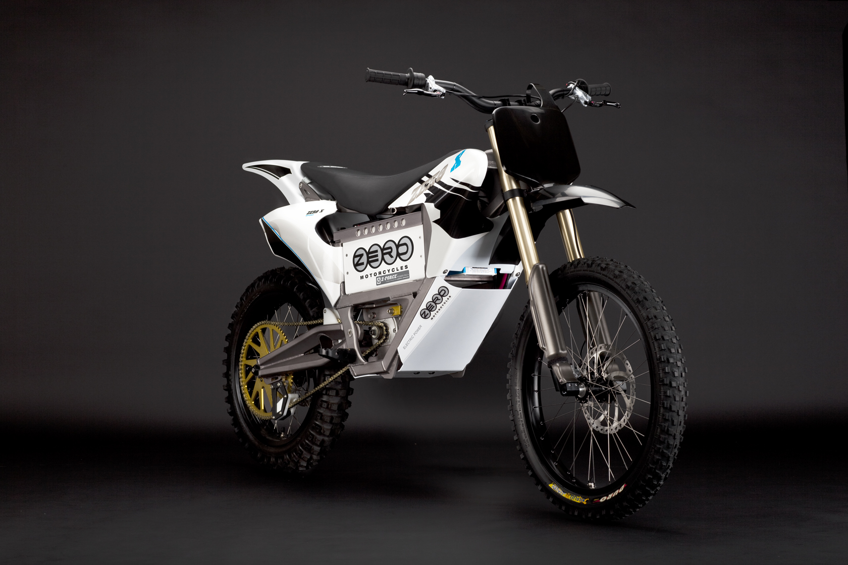 '.2010 Zero X Electric Motorcycle: Blue Angle.'