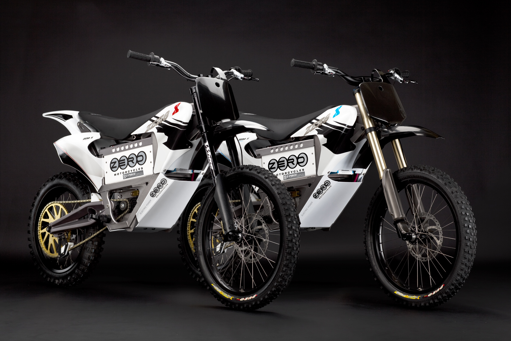 '.2010 Zero X Electric Motorcycle: Pair.'