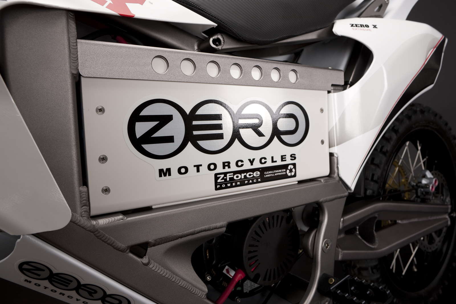 '.2010 Zero X Electric Motorcycle: Battery.'