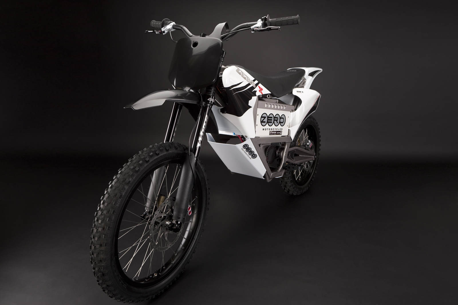 '.2010 Zero X Electric Motorcycle: Front Fork.'