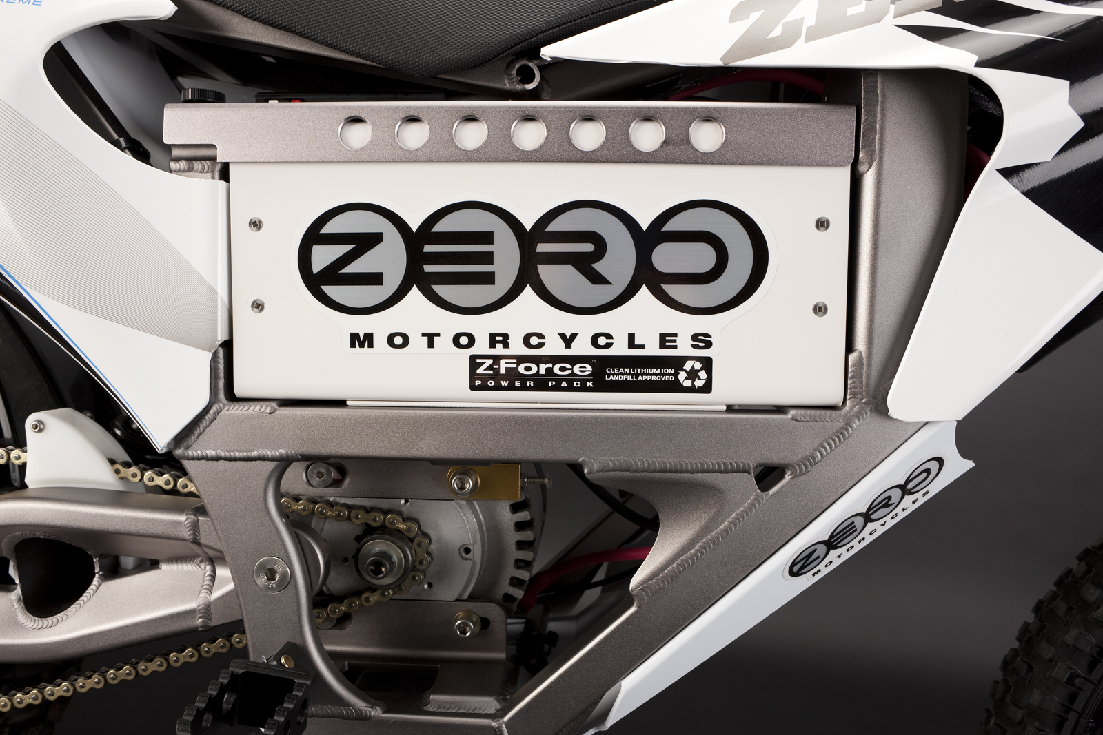'.2010 Zero X Electric Motorcycle: Battery 2.'