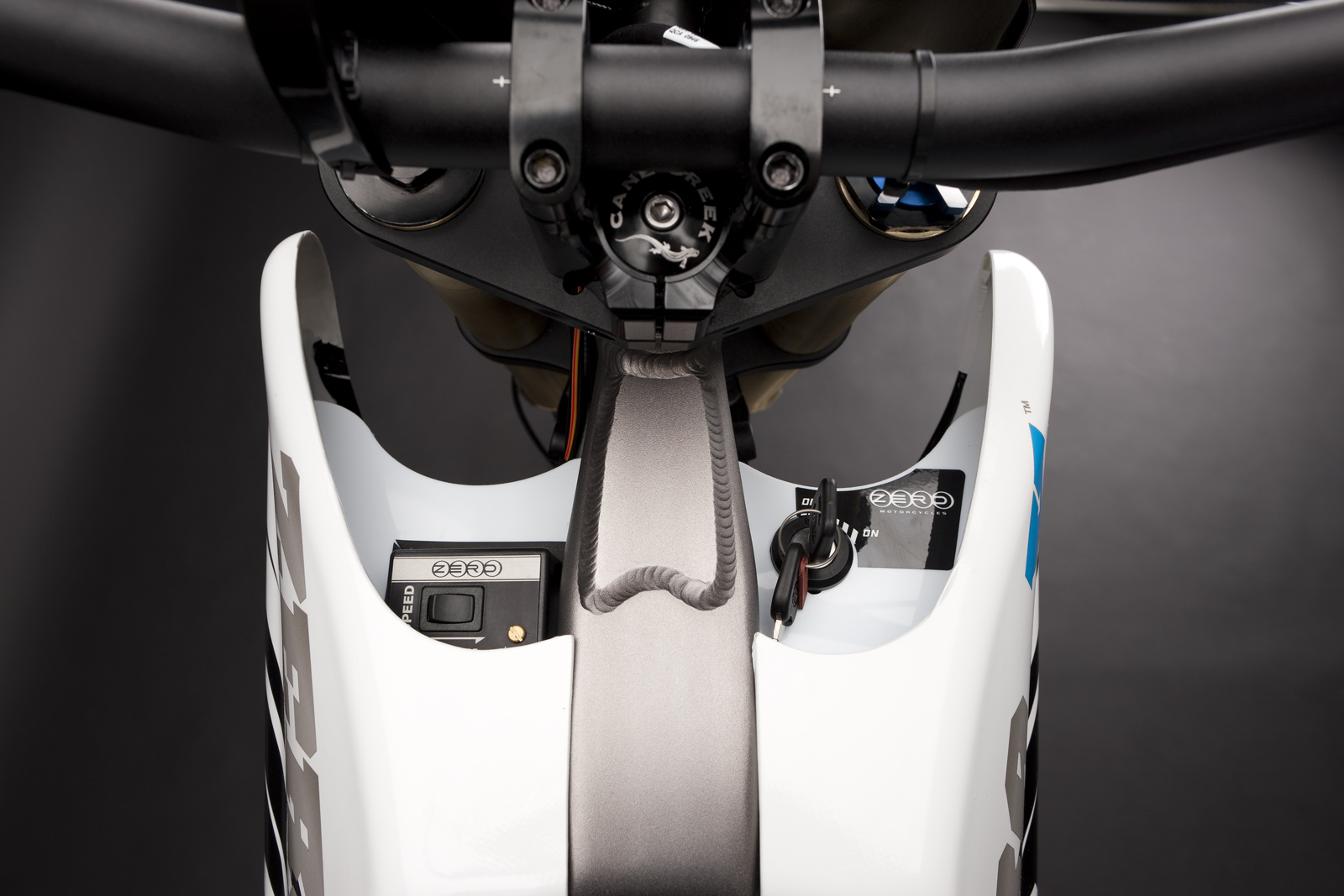 '.2010 Zero X Electric Motorcycle: Ignition.'